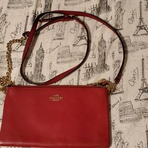 Coach red crossbody bag
